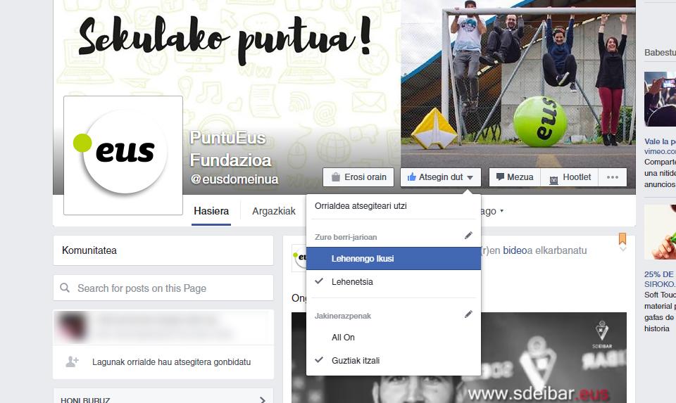 PuntuEus Facebook